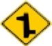 right left T junction warning sign