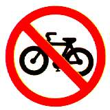 Thai no bicycles sign
