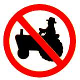 Thai no Agricultural vehicles sign