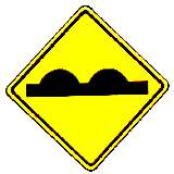 uneven road surface warning sign